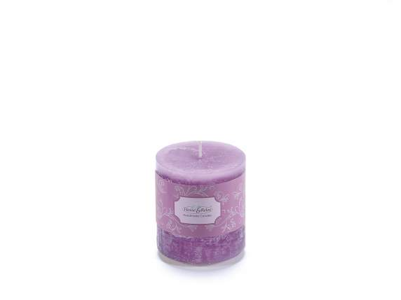 Small lilac candle 6,7x7,3 cm  - burning time 33 hours.