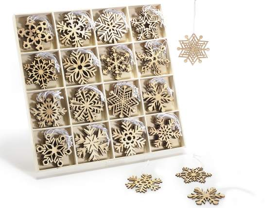 Expo 96 wooden snowflakes Christmas decorations