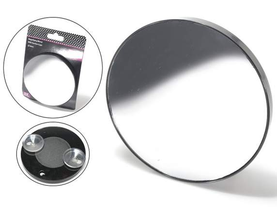 Specchio portatile per trucco ingrandimento 5x con ventose - Specchio ingrandimento ...
