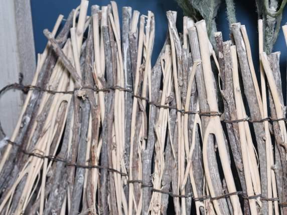 Staccionata recinto recinzione striscia in legno - Rami decorativi legno ...