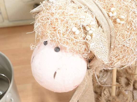Standing straw big decorative sheep