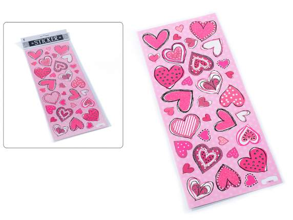 Confection 33 adhesive hearts w-glitter