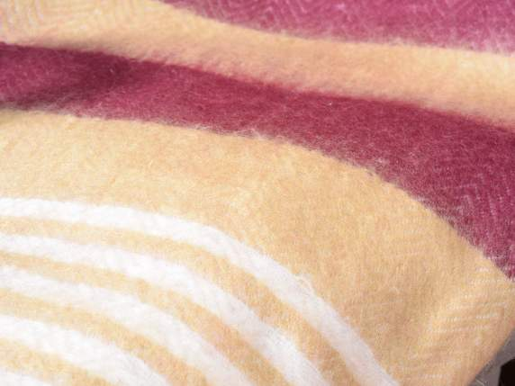 Cashmere straight blanket with fringe