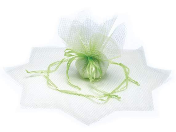 Green sachet tulle for sugared almond
