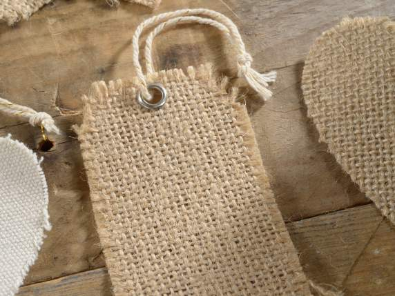 Conf 12 tags in jute w-cord