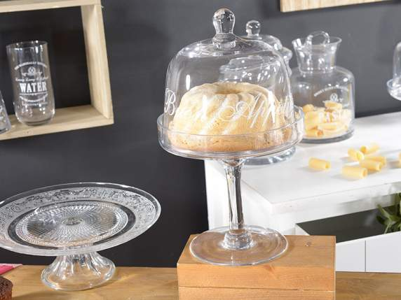 Good Appetite glass cake stand w-lid