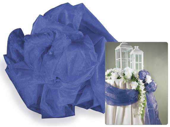 Royal blue tissue in simple organza