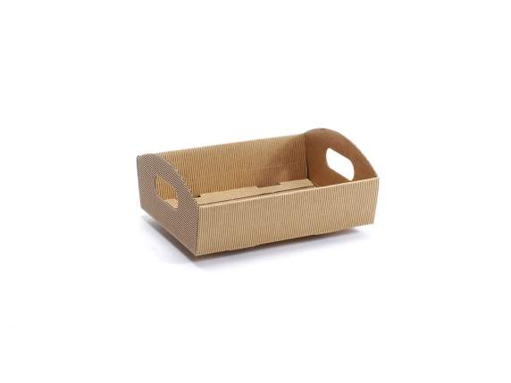Raw corrugated tray