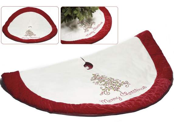 Christmas tree embroidered mat