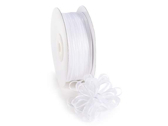 Voile ribbon Poly mm 6x50 mt white snow