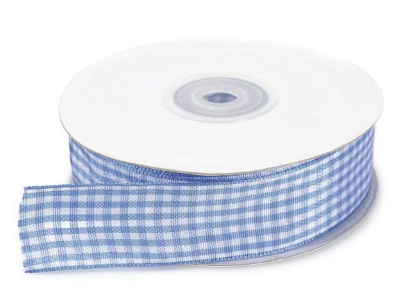 Sugar paper colour checked ribbon mm 25x25 mt