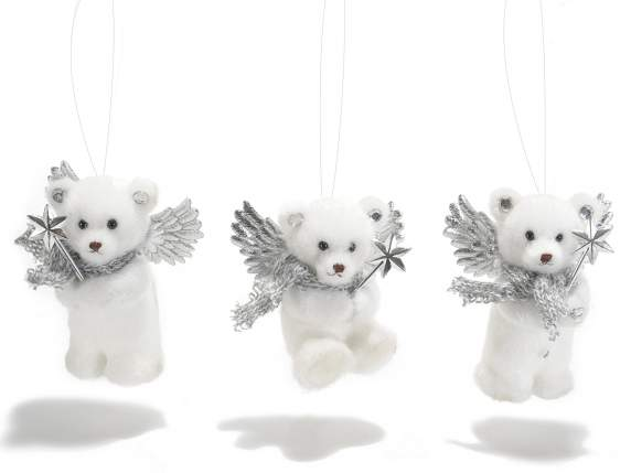 Decorative white bears to hang