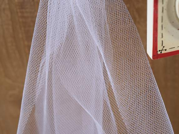 White tulle coil 12,5 x 100 mt
