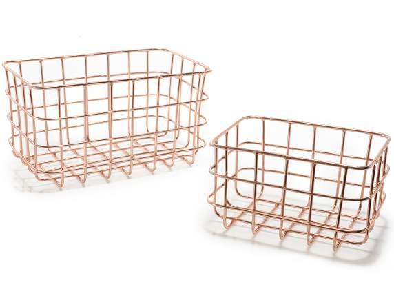Set 2 of metal wire basket