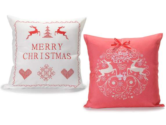 Xmas embroidery pillow cover