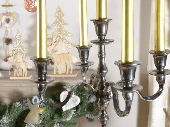 Burnished brass candlestick 5 flames