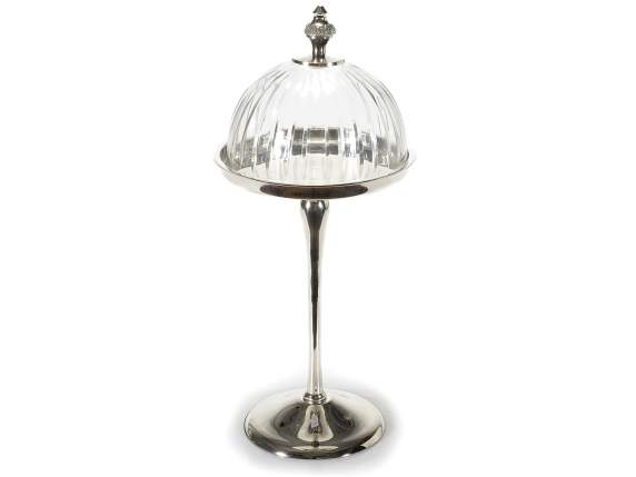 Metal stand with dome