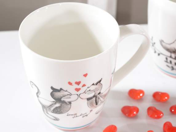 Mug with animals in love
