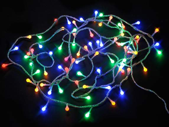 Transparent wire with 80 spheres milticolor led lights