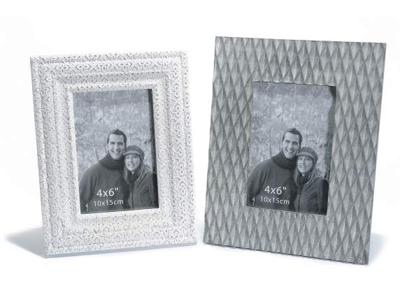Standing wooden photo frame antique effect