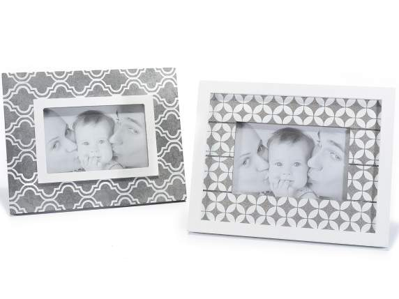 Wooden photo frame with decoration