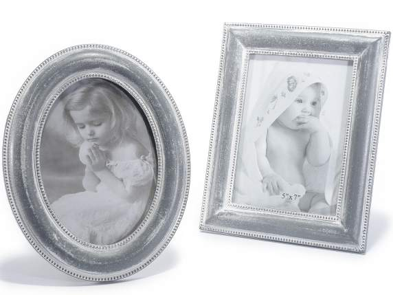 Wooden photo frames w-concrete effect