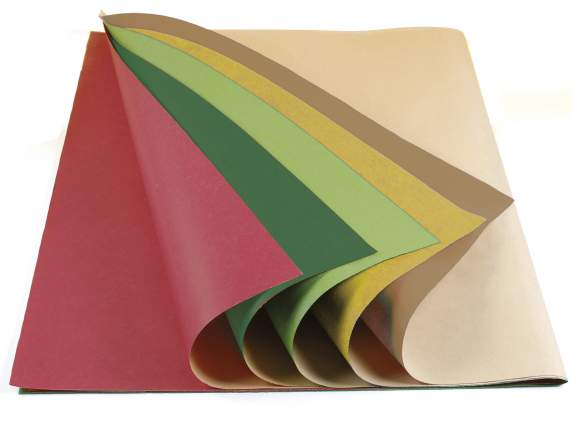Packaging of 50 coloured wrapping paper sheets. 70 x 100.