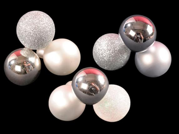 Box of 144 glass silver balls w-moldable wire