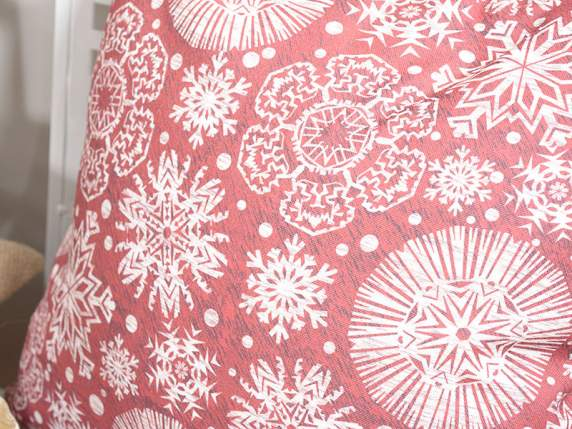 Christmas cushion in cloth and print cover