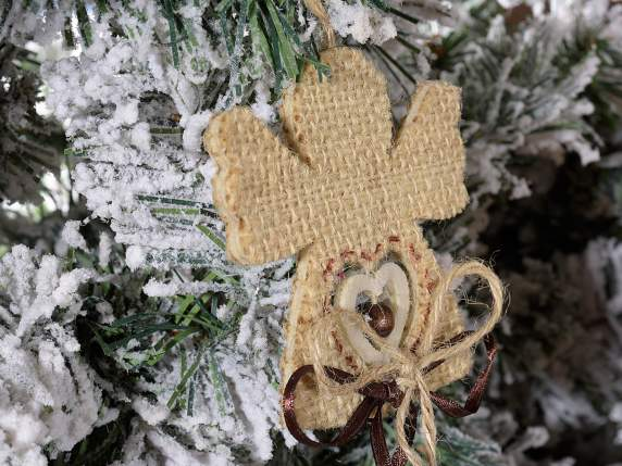 Christmas decorations in jute t hang