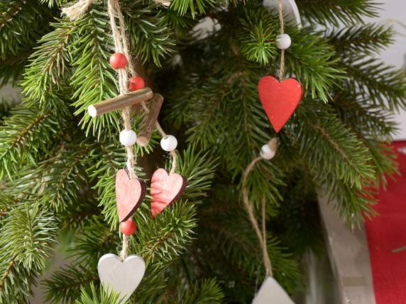 Wooden hanging decorations for Christmas