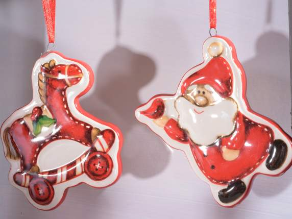 Ceramic Christmas decorations to hang