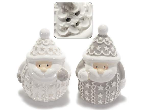 Christmas salt and pepper set w-decorations
