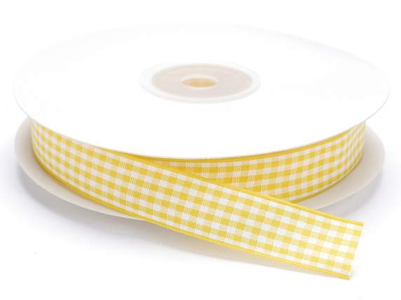 Checked ribbon 15mmx25mt yellow