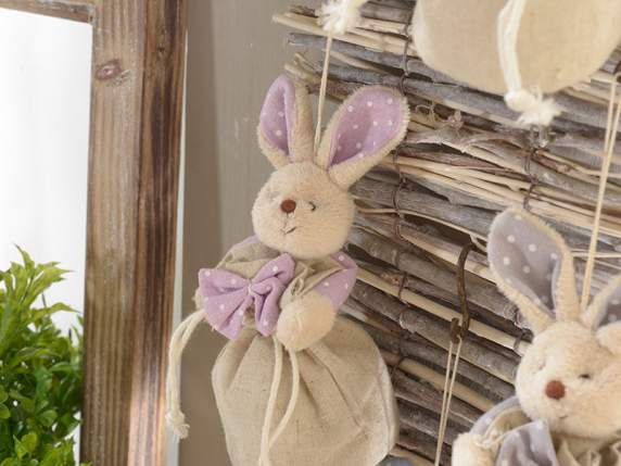 Cloth bag with colored rabbit