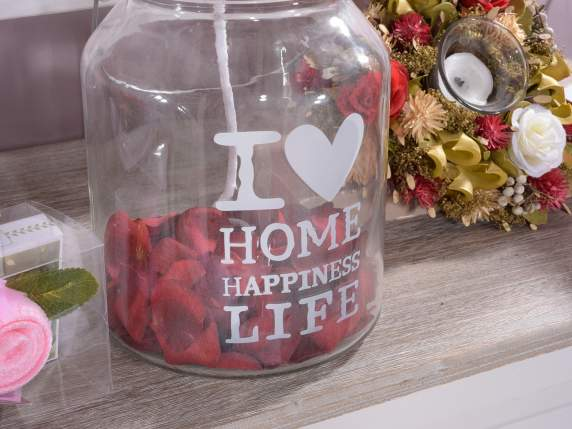 vaza de sticla w - -quot;I Love-quot;, decorare și