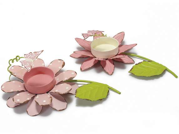 titular tealight flori in metal w - fluture