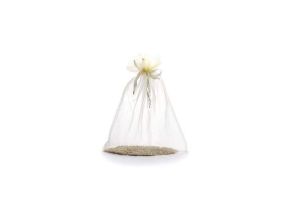 Organdie sachet 23x30 cm cream color