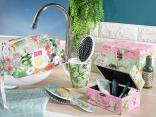 Accessori beauty, lo stile tropicale in bagno